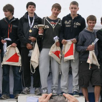 John, Alistair and Alex - 2nd place in M18 Relay, Source: