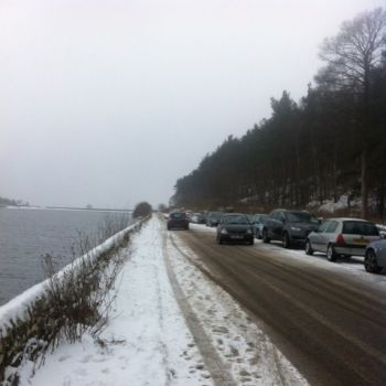 Road along side of reservoir from Leathers Smithy, Source: