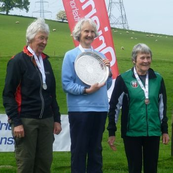W75 podium - Sue Birkinshaw, 3rd, Source: