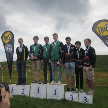 M18 podium - Matthew, Alistair and John, 1st, Source:
