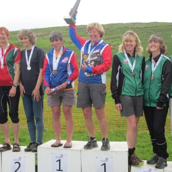 W50 podium - Heather, Hazel and Vicky, 2nd, Source: