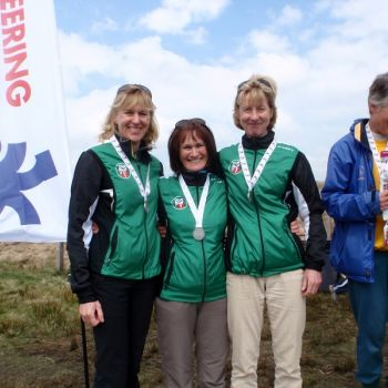 Silver medals for W165+ Relay team - Heather, Jan and Vicky, Source: