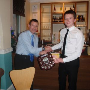 Jon Carberry, NWJS lead coach, presenting Matt with the shield, Source: