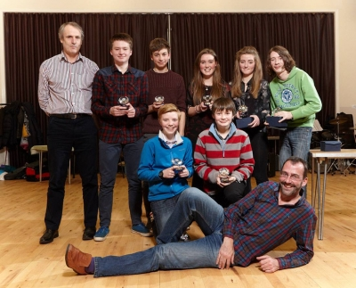 Team of the Year - Matthew, Alistair, Carolyn, Laura, River, Ben & James with team manager Steve Dempsey